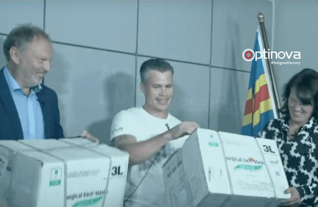 Optinova donated 40 000 face masks 2
